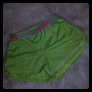 Justice girls size 8 neon green shorts